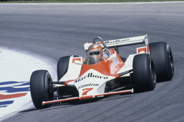 Osterreichring, Zeltweg, Austria. 15-17 August 1980.John Watson (McLaren M29-Ford Cosworth), retired.World Copyright: LAT PhotographicRef: 35mm transparency 80AUT22
