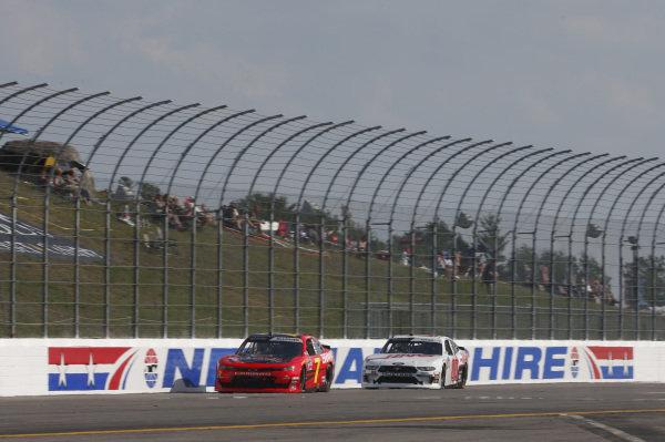 #7: Justin Allgaier, JR Motorsports, Chevrolet Camaro BRANDT / Rev1 Energy #00: Cole Custer, Stewart-Haas Racing, Ford Mustang Haas Automation