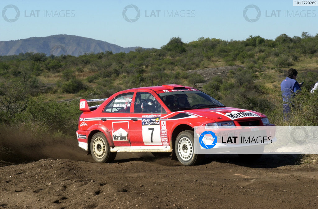 2001 World Rally Championship. ArgentinaMay 3rd-6th, 2001Tommi Makinen during the Wednesday morning shakedown.Photo: Ralph Hardwick/LAT