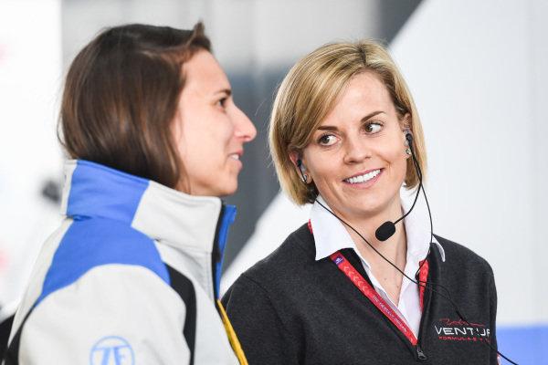 Susie Wolff, Team Principal, Venturi Formula E and Simona de Silvestro (CHE), ABB Ambassador