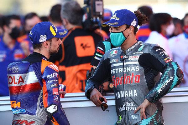 Miguel Oliveira, Red Bull KTM Tech 3, Franco Morbidelli, Petronas Yamaha SRT.