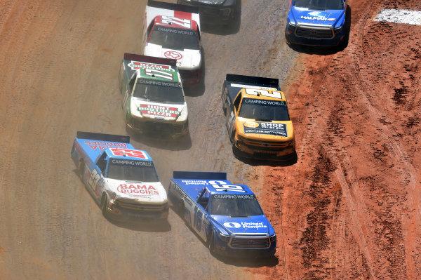 #16: Austin Hill, Hattori Racing Enterprises, Toyota Tundra United Rentals, #23: Chase Purdy, GMS Racing, Chevrolet Silverado BamaBuggies.com, #2: Sheldon Creed, GMS Racing, Chevrolet Silverado Chevy Accessories