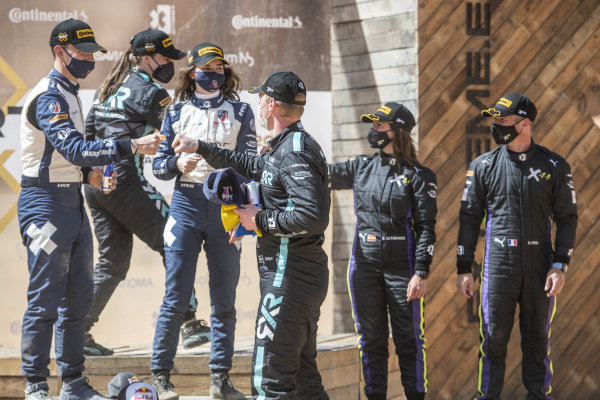 Catie Munnings (GBR)/Timmy Hansen (SWE), Andretti United Extreme E Molly Taylor (AUS)/Johan Kristoffersson (SWE), Rosberg X Racing Cristina Gutierrez (ESP)/Sebastien Loeb (FRA), X44