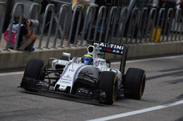 Felipe Massa (BRA) Williams FW38 at Formula One World Championship, Rd18, United States Grand Prix, Race, Circuit of the Americas, Austin, Texas, USA, Sunday 23 October 2016.
