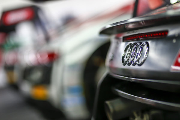 Audi Badge detail at Audi R8 LMS Cup, Rd5 and Rd6, Korea International Circuit, Yeongam, South Korea, 14-16 July 2017.