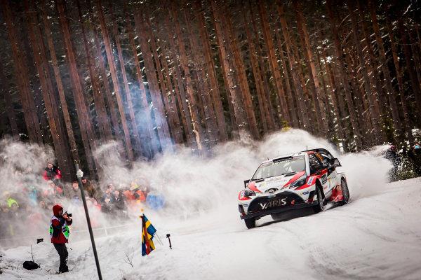 Jari-Matti Latvala (FIN) / Miikka Anttila (FIN), Toyota Gazoo Racing Toyota Yaris WRC at World Rally Championship, Rd2, Rally Sweden, Day Three, Karlstad, Sweden, 12 February 2017.