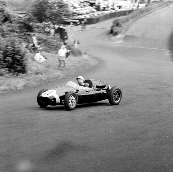 1958 German Grand Prix.Nurburgring, Germany.1-3 August 1958.Maurice Trintignant (Cooper T45 Climax) 3rd position.Ref-2269.World Copyright - LAT Photographic