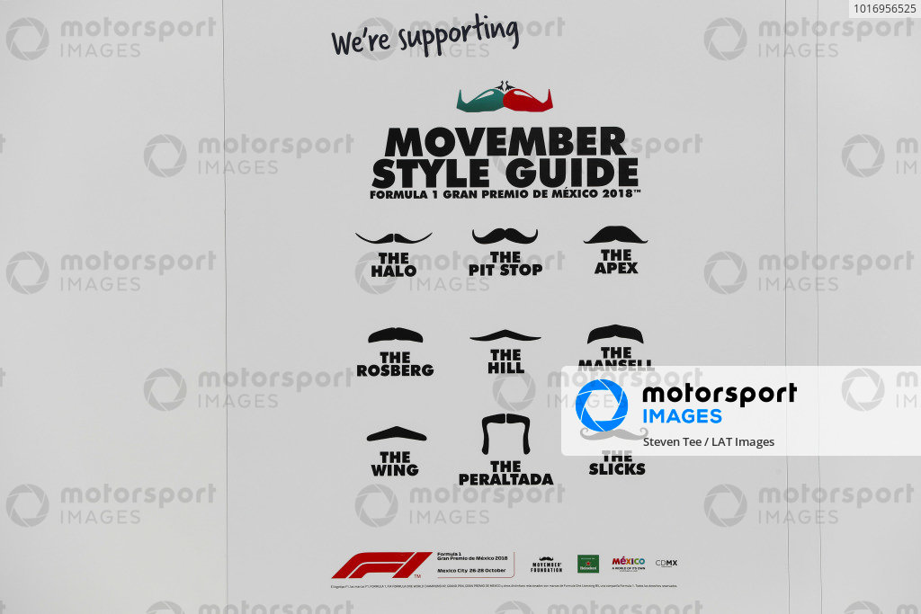 A motor-racing-themed Movember moustache style guide from McLaren