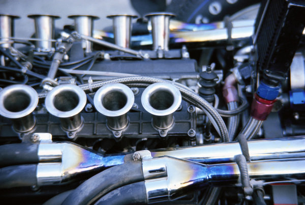 The BRM engine in the McLaren M4B.