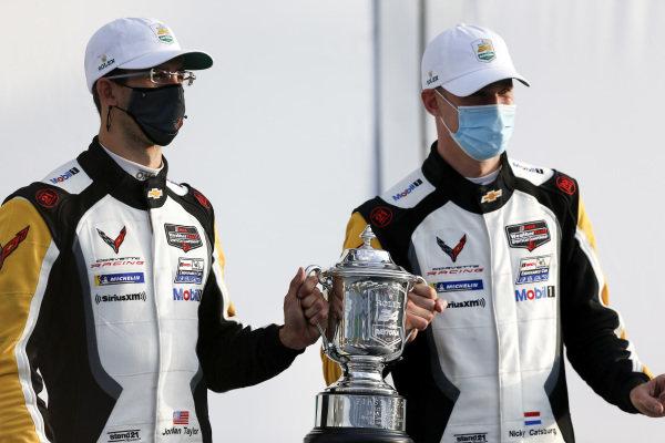 #3 Corvette Racing Corvette C8.R, GTLM: Nicky Catsburg, Jordan Taylor, Antonio Garcia winner, victory lane