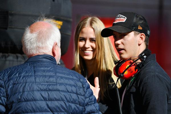 The father, Norbert, and brother, Fabian, of Sebastien Vettel, Ferrari