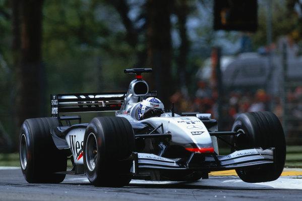 2002 San Marino Grand Prix.Imola, Italy.12-14 April 2002.David Coulthard (McLaren MP4/17 Mercedes) 6th position.Ref-02 SM 05.World Copyright - LAT Photographic