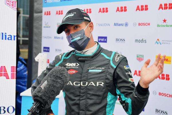 Mitch Evans (NZL), Jaguar Racing, is interviewed after Qualifying