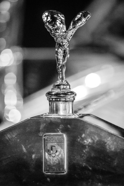 Flying Lady on the Rolls-Royce Silver Ghost