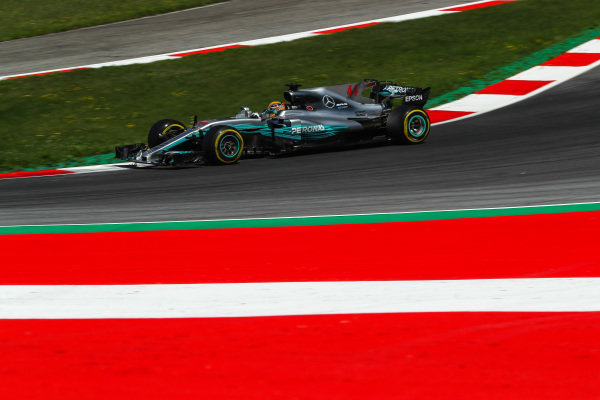 Lewis Hamilton (GBR) Mercedes-Benz F1 W08 Hybrid at Formula One World Championship, Rd9, Austrian Grand Prix, Practice, Spielberg, Austria, Friday 7 July 2017.