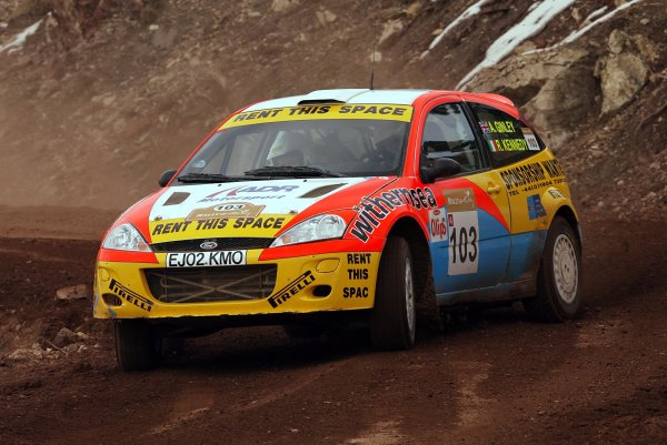 2003 FIA World Rally Championship. Kemer, Turkey. Rd3.26/2-2/3 2003.Alistair Ginley/Rory Kennedy (Ford Focus WRC).World Copyright: McKlein/LAT Photographic