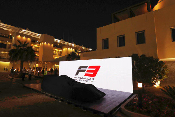 The new for 2019 FIA F3 car is launched in the F1 paddock