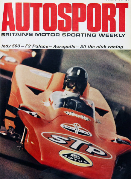 Cover of Autosport magazine, 7th June 1968