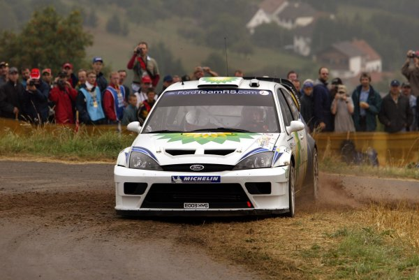 2003 FIA World Rally Champs. Round eight, Deutschland Rally24th-27th July 2003.Francois Duval, Ford, action. World Copyright: McKlein/LAT