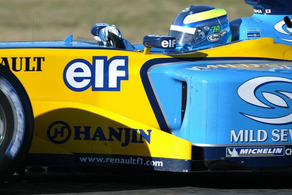 2003 Formula One Testing.Satoshi Motoyama, 1st test for Renault.Jerez, Spain.9-11 December 2003.World Copyright:Spinney/LAT Photographic.Ref.: Digital Image Only.