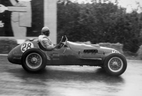 1952 Belgian Grand Prix.Spa-Francorchamps, Belgium. 22 June 1952.Paul Frere (HWM 51/52-Alta), 5th position.World Copyright - LAT Photographic