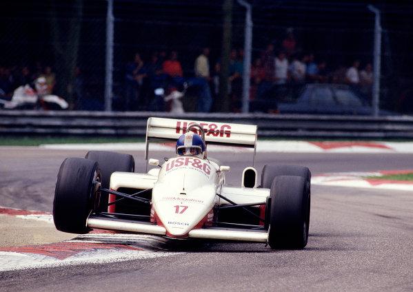 1987 Italian Grand Prix.Monza, Italy.4-6 September 1987.Derek Warwick (Arrows A10 Megatron).Ref-87 ITA 31.World Copyright - LAT Photographic