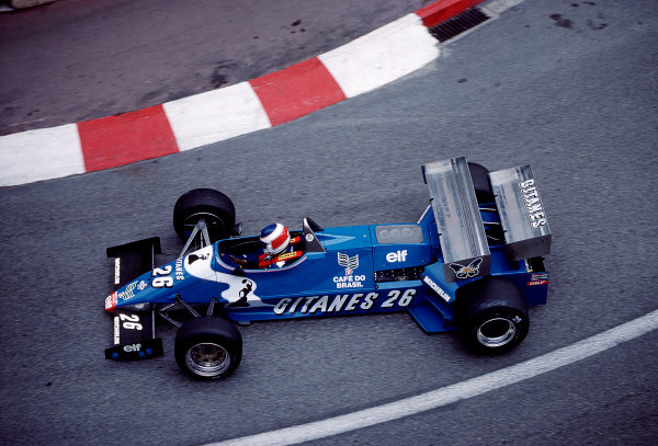 1983 Monaco Grand Prix.Monte Carlo, Monaco.12-15 May 1983.Raul Boesel (Ligier JS21 Ford).Ref-83 MON 49.World Copyright - LAT Photographic