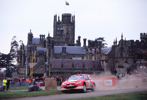 2003 World Rally ChampionshipRally of Great Britain, Wales. 6th - 9th November 2003.Harri Rovanpera / Risto Pietilainen, Peugeot 206 WRC. Action / ScenicWorld Copyright: McKlein/LATref: 35mm Image WRC_GB_13 jpg
