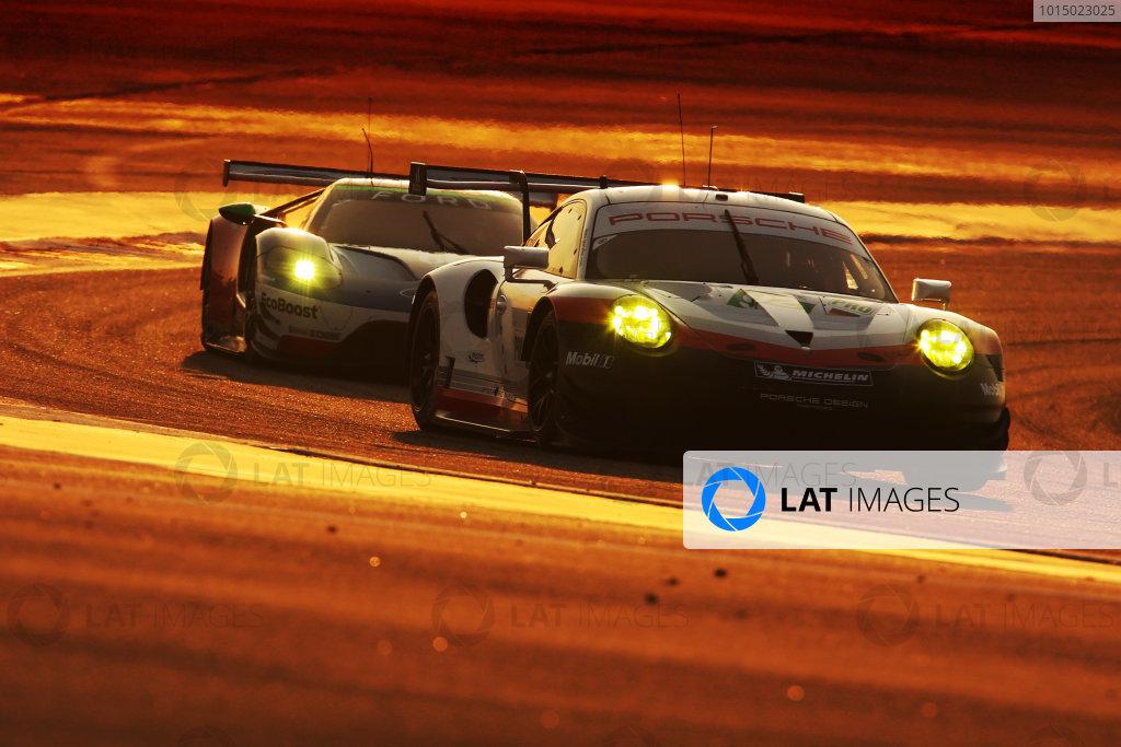 2017 FIA World Endurance Championship, Bahrain International Circuit, Bahrain. 16th-18th November 2017, #92 Porsche GT Team Porsche 911 RSR: Michael Christensen, Kevin Estre  World Copyright. JEP/LAT Images