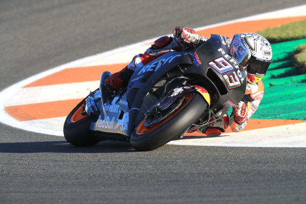 2017 MotoGP Championship - Valencia test, Spain. Tuesday 14 November 2017 Marc Marquez, Repsol Honda Team World Copyright: Gold and Goose / LAT Images ref: Digital Image MotoGP2017-ValenciaTest-Day1-1333