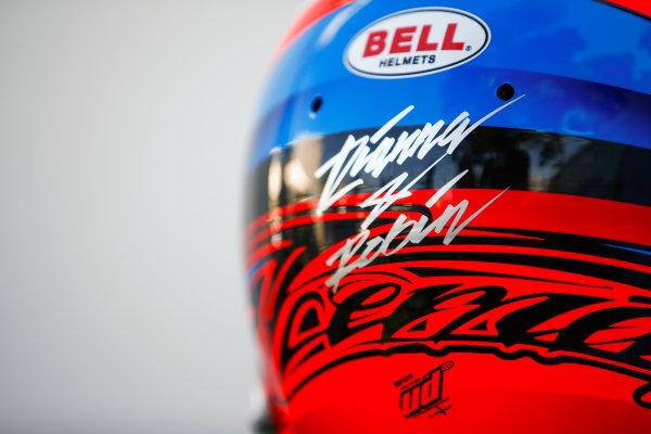 The helmet of Kimi Raikkonen, Ferrari.