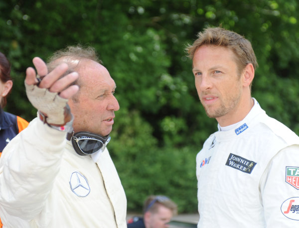 2015 Goodwood Festival of Speed 25th - 28th June 2015 Jochen Mass and Jenson Button World Copyright : Jeff Bloxham/LAT Photographic Ref : Digital Image