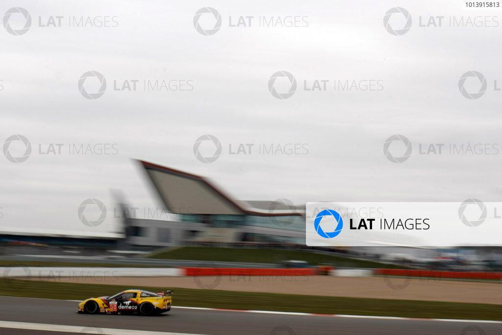 2013 FIA WEC Championship, Silverstone, Northamptonshire. 12th - 14th April 2013. Patrick Bornhauser / Julien Canal / Fernando Rees Larbre Competition Chevrolet Corvette C6 ZR1 World Copyright: Ebrey / LAT Photographic.