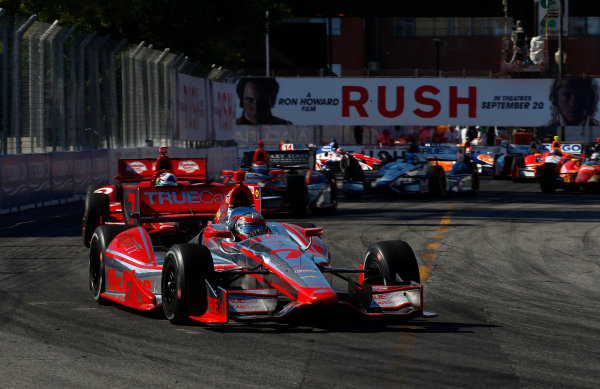 14 July, 2013,  Toronto, Ontario, CAN Sebastien Bourdais leads Dario Franchitti ©2013, Phillip Abbott LAT Photo USA