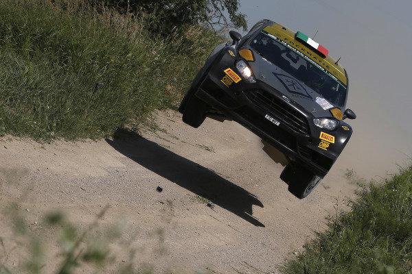 Lorenzo Bertelli (ITA) / Giovanni Bernacchini (ITA) Ford Fiesta RS WRC at FIA World Rally Championship, Rd7, Lotos 71st Rally Poland, Day Two, Mikolajki, Poland, Saturday 4 July 2015.