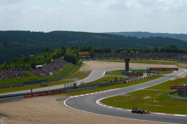 Mark Webber (AUS) Red Bull Racing RB9. Formula One World Championship, Rd9, German Grand Prix, Qualifying, Nurburgring, Germany, Saturday 6 July 2013.
