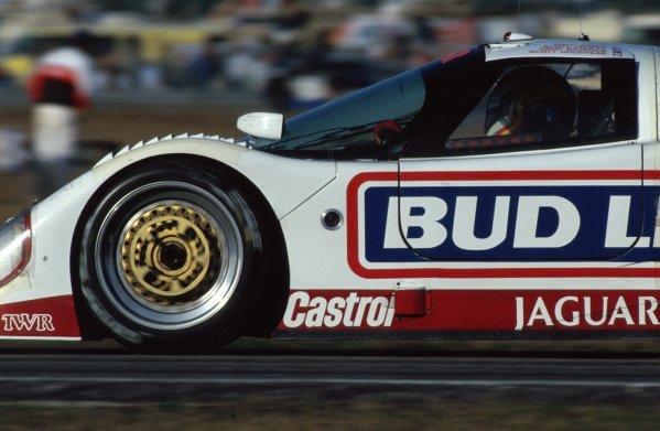 Davy Jones (USA) TWR Jaguar XJR-12D, 2nd place.IMSA GTP Championship, Rd1, Daytona 24 Hours, Daytona Beach, Florida, USA. 2 January 1992.BEST IMAGE