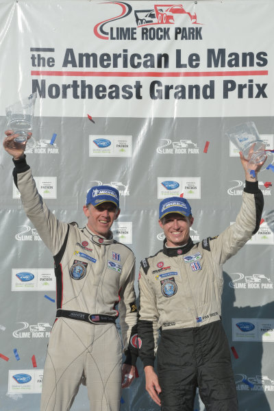 5-6 July, 2013, Lakeville, Connecticut USA.#551 Level 5 Motorsport's Scott Tucker and Ryan Briscoe, LMP2 class winners ©2013, Dan R. Boyd, LAT Photo USA