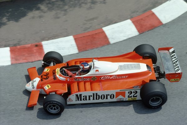 1980 Monaco Grand Prix.Monte Carlo, Monaco. 15-18 May 1980.Patrick Depailler (Alfa Romeo 179B), retired.World Copyright: LAT PhotographicRef: 35mm transparency 80MON09