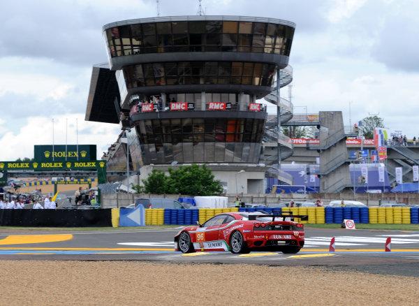 Circuit de La Sarthe, Le Mans, France. 6th - 13th June 2010.Luis Perez Companc / Matias Russo / Mika Salo, AF Corse SRL, No 93 Ferrari 430 GT. Action. World Copyright: Jeff Bloxham/LAT PhotographicDigital Image DSC_6719 JPG