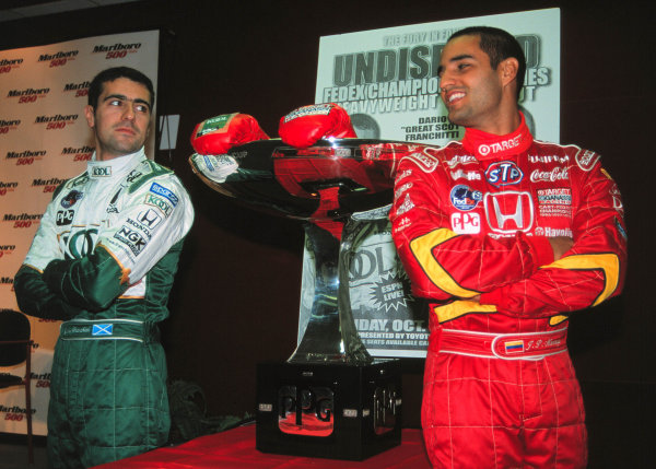 1999 CART California 500, California Speedway 31/10/99Franchitti and Montoya face off-1999, Michael L. Levitt / USALAT PHOTOGRAPHIC