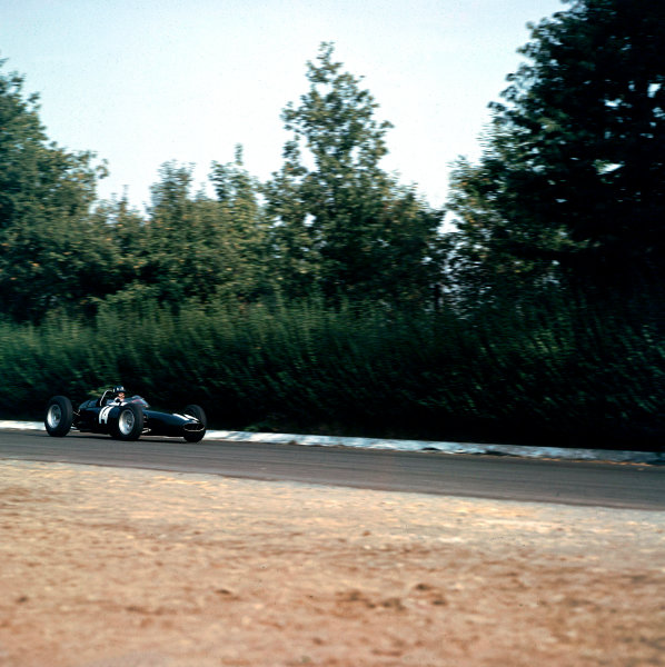 1962 Italian Grand Prix.Monza, Italy.14-16 September 1962.Graham Hill (BRM P57) 1st position.Ref-670.World Copyright - LAT Photographic