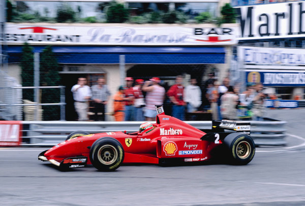 1996 Monaco Grand Prix.Monte Carlo, Monaco. 16-19 May 1996.Eddie Irvine (Ferrari F310) at Rascasse.Ref-96 MON 51.World Copyright - LAT Photographic