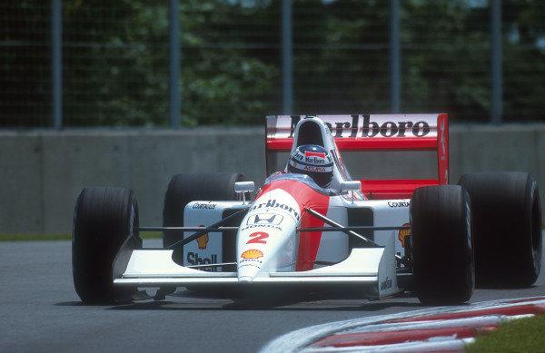1992 Canadian Grand Prix.Montreal, Quebec, Canada.12-14 June 1992.Gerhard Berger (McLaren MP4/7A Honda) 1st position.Ref-92 CAN 12.World Copyright - LAT Photographic