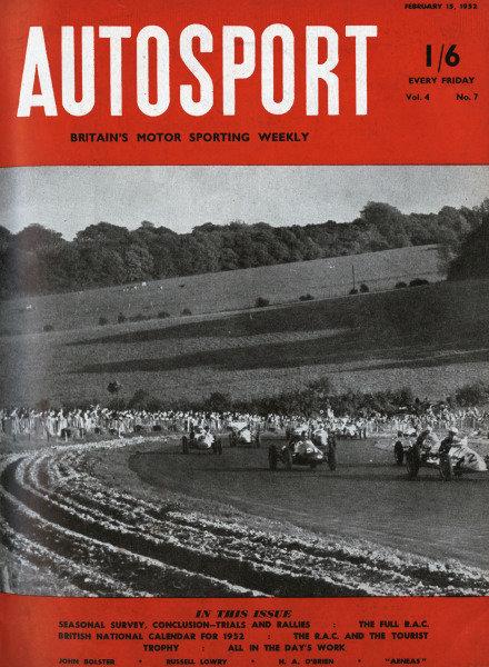Cover of Autosport magazine, 15th February 1952
