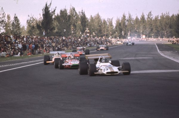 1970 Mexican Grand Prix.Mexico City, Mexico.23-25 October 1970.Pedro Rodriguez (BRM P153) 6th position.Ref-70 MEX 26.World Copyright - LAT Photographic