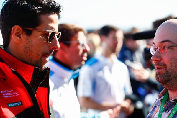 Lucas Di Grassi (BRA), Audi Sport ABT Schaeffler, talks to the press