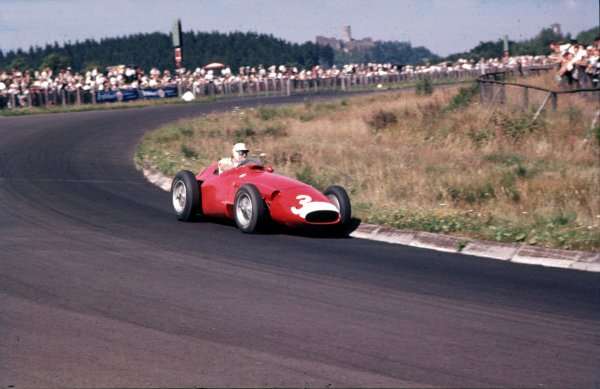1957 German Grand Prix.Nurburgring, Germany.2-4 August 1957.Harry Schell (Maserati 250F) 7th position.Ref-57 GER 05.World Copyright - LAT Photographic