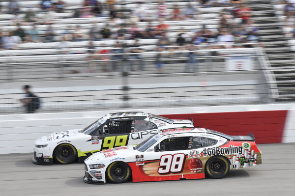 #99: Sam Mayer, B.J. McLeod Motorsports, Chevrolet Camaro QPS Employment Group, #98: Riley Herbst, Stewart-Haas Racing, Ford Mustang Go Bowling