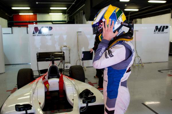 Circuit de Barcelona Catalunya, Barcelona, Spain. Tuesday 14 March 2017. Sergio Sette Camara (BRA, MP Motorsport). Photo: Alastair Staley/FIA Formula 2 ref: Digital Image 580A0595